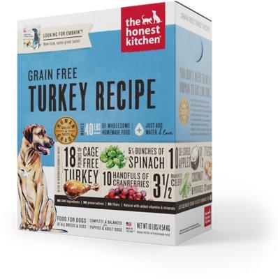The Honest Kitchen Grain-Free Turkey Recipe Dehydrated Dog Food, 10-lb box