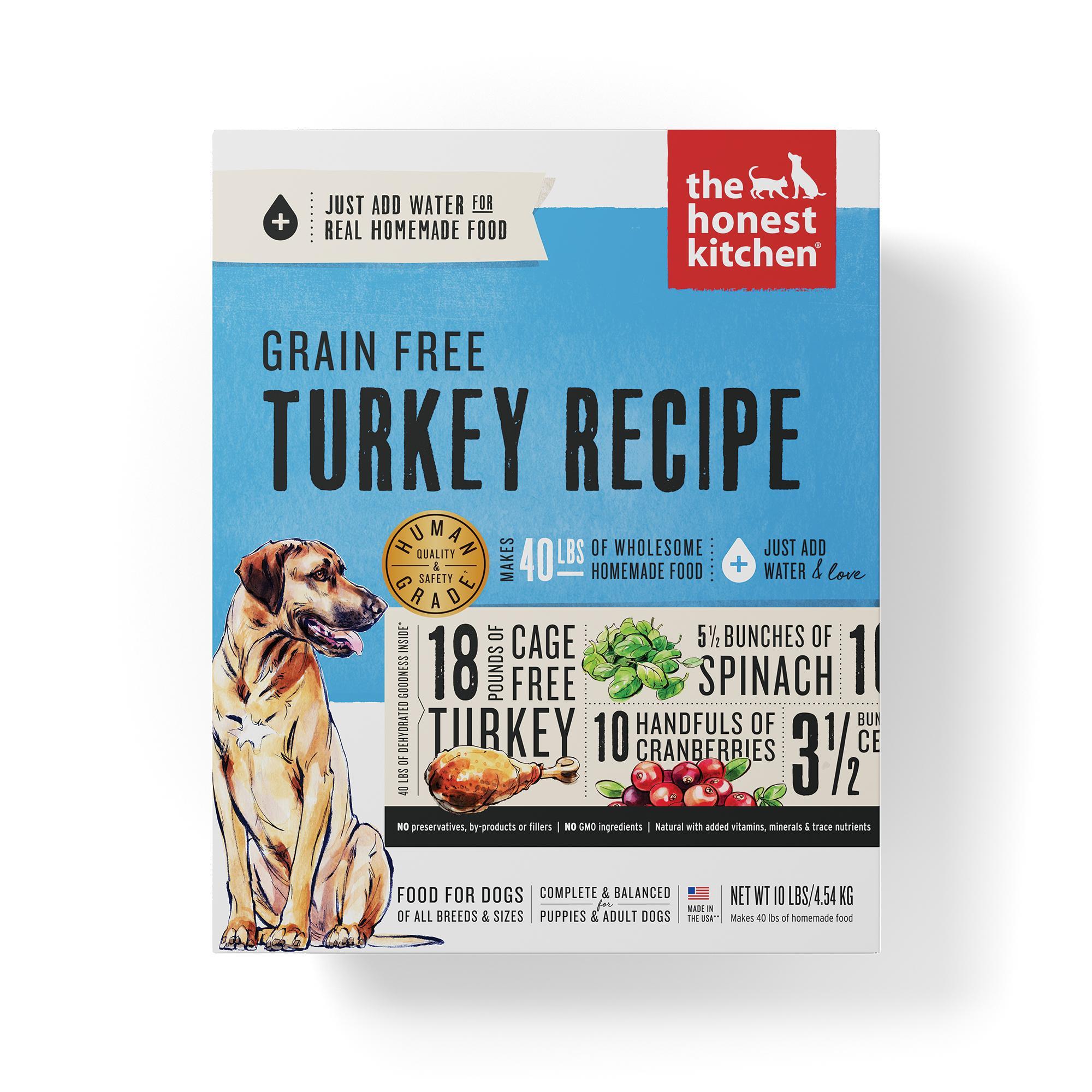 The Honest Kitchen Turkey Recipe Grain-Free Dehydrated Dog Food, 10-lb box