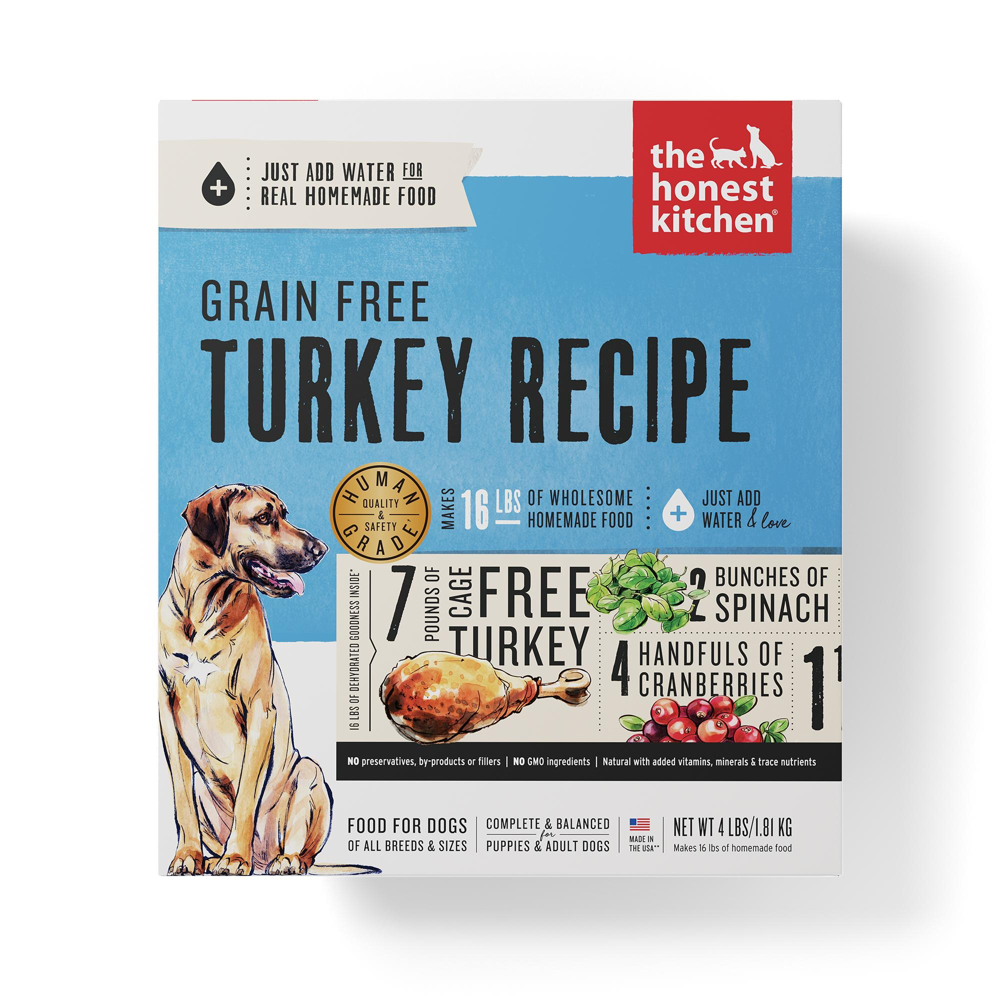 The Honest Kitchen Turkey Recipe Grain-Free Dehydrated Dog Food, 4-lb box