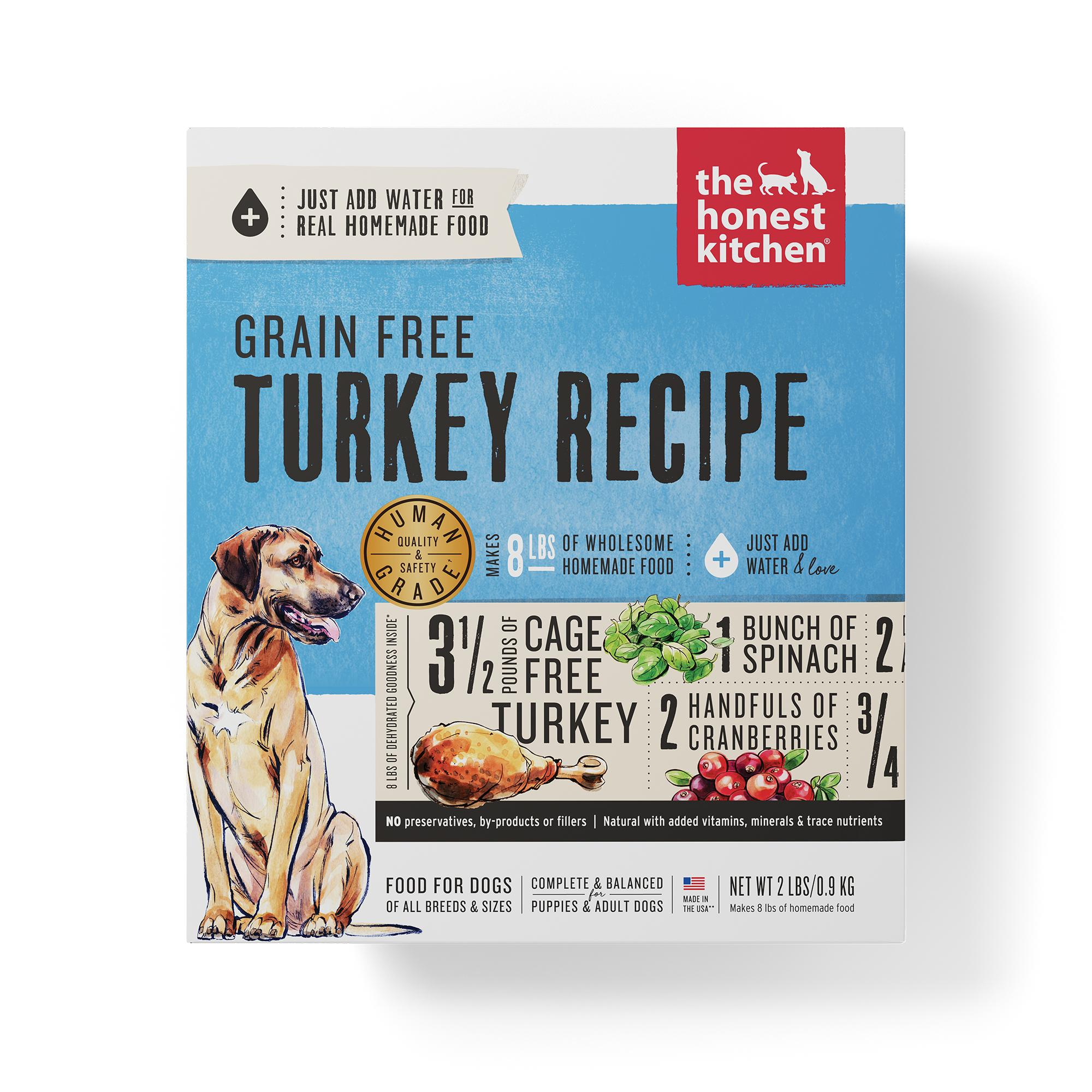 The Honest Kitchen Turkey Recipe Grain-Free Dehydrated Dog Food, 2-lb box