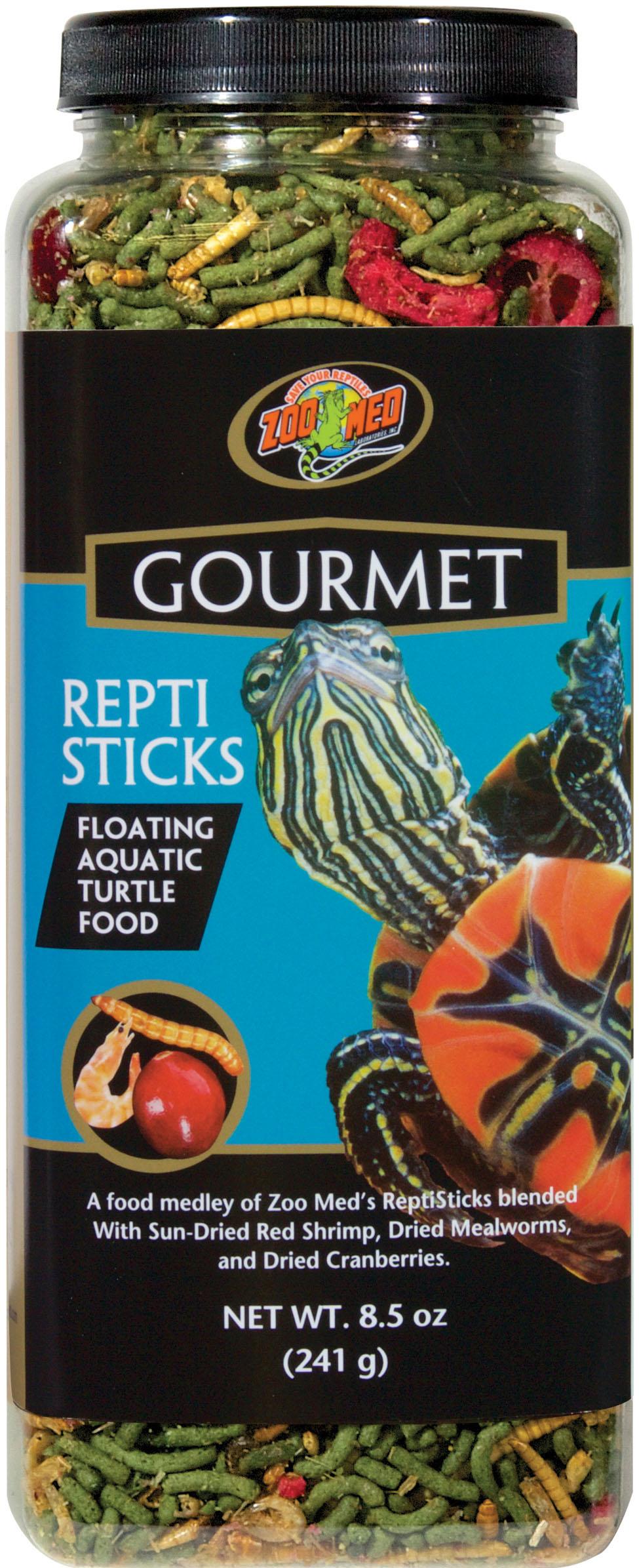 Zoo Med Gourmet ReptiSticks Turtle Food, 8.5-oz bottle