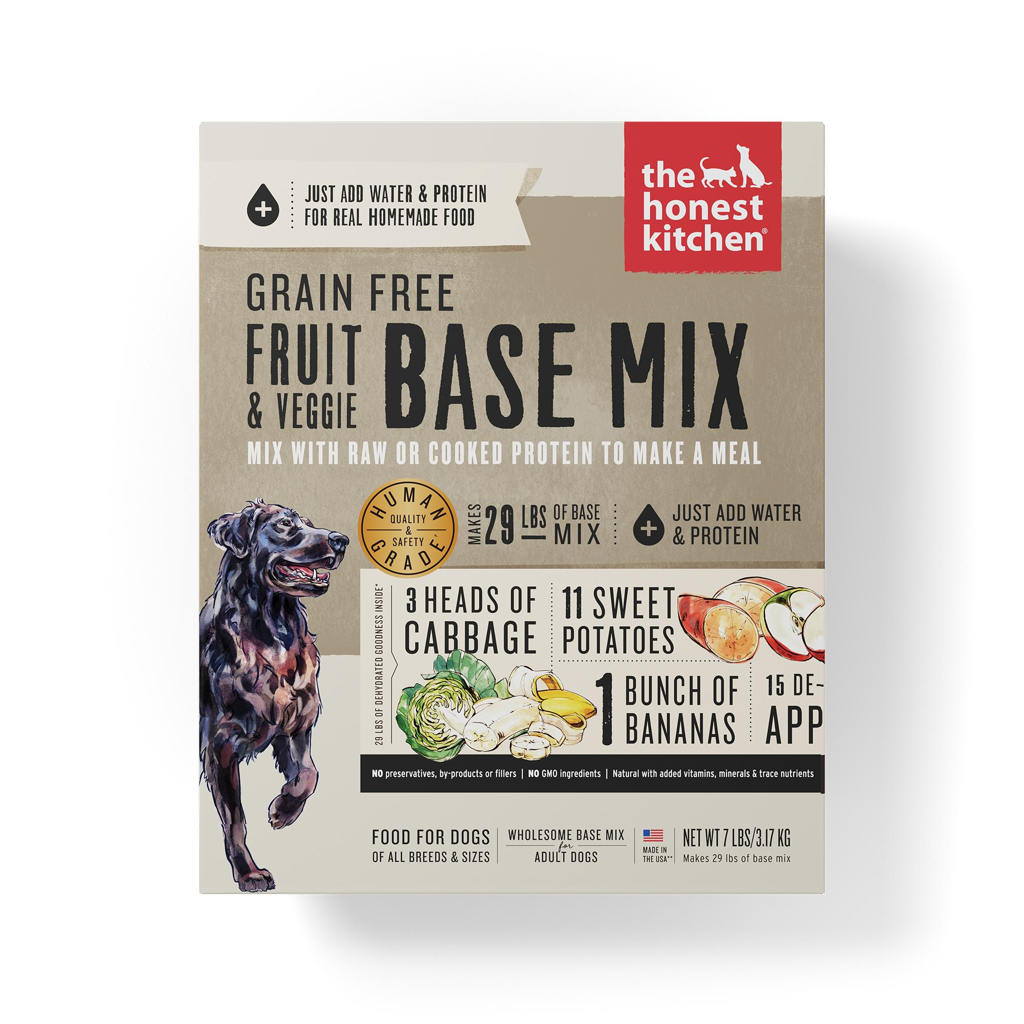 The Honest Kitchen Fruit & Veggie Base Mix Grain-Free Dehydrated Dog Food, 7-lb box