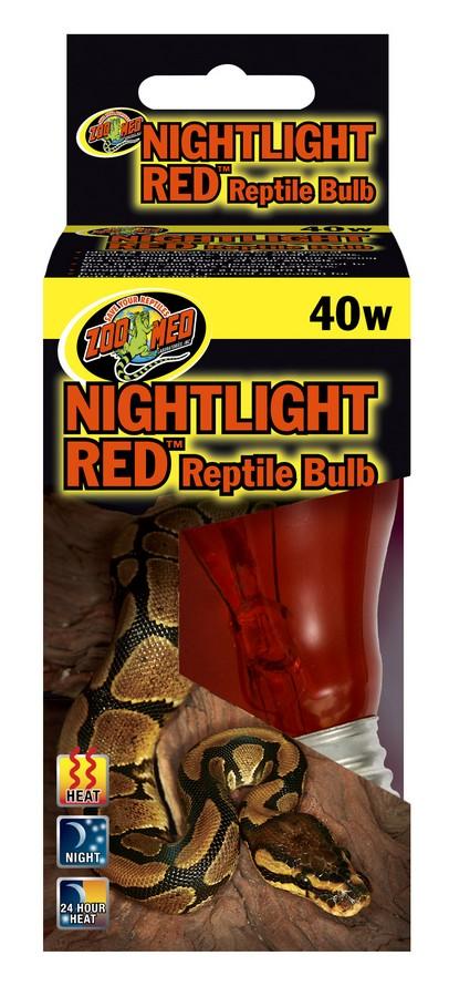 Zoo Med Nightlight Red Reptile Lamp, 40-watt
