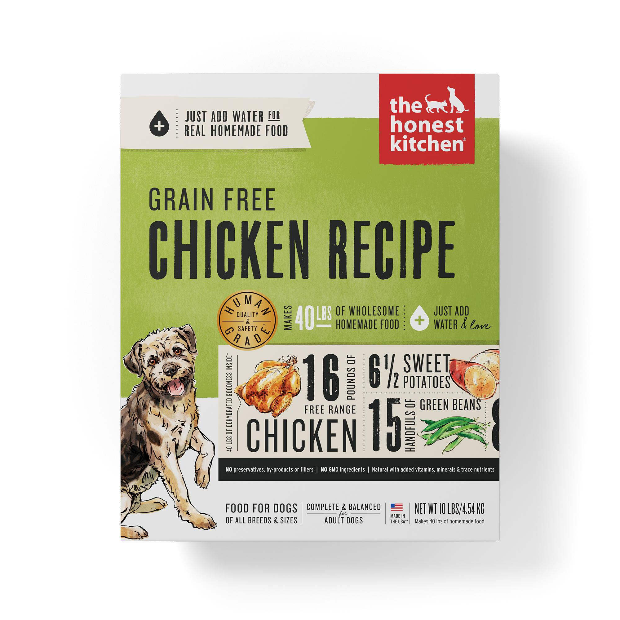 The Honest Kitchen Chicken Recipe Grain-Free Dehydrated Dog Food, 10-lb box