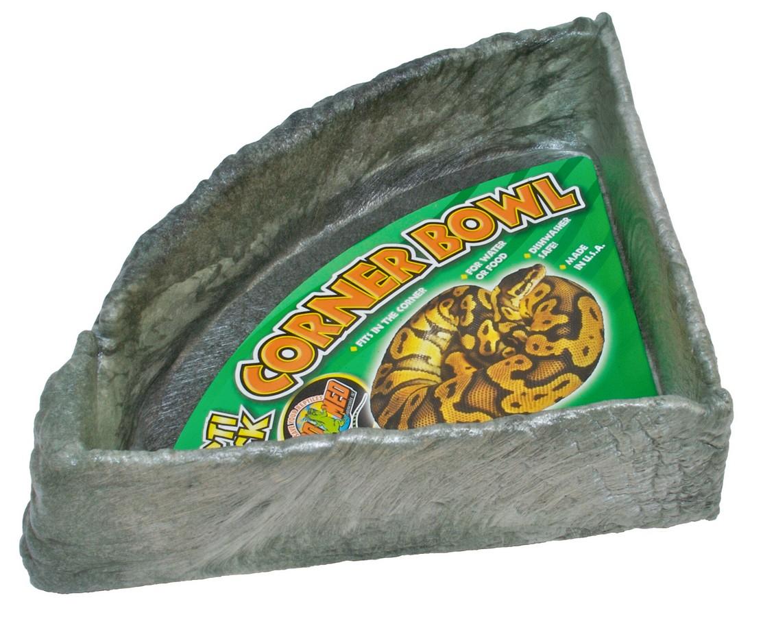 Zoo Med Repti Rock Corner Food & Water Bowl, X-Large