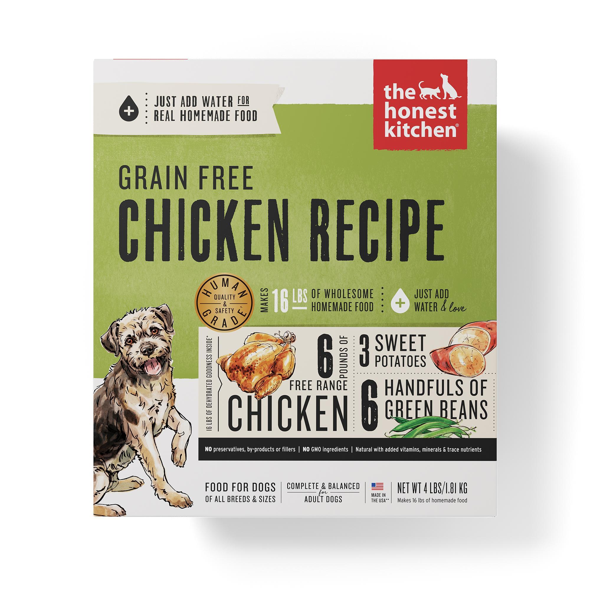 The Honest Kitchen Chicken Recipe Grain-Free Dehydrated Dog Food, 4-lb box