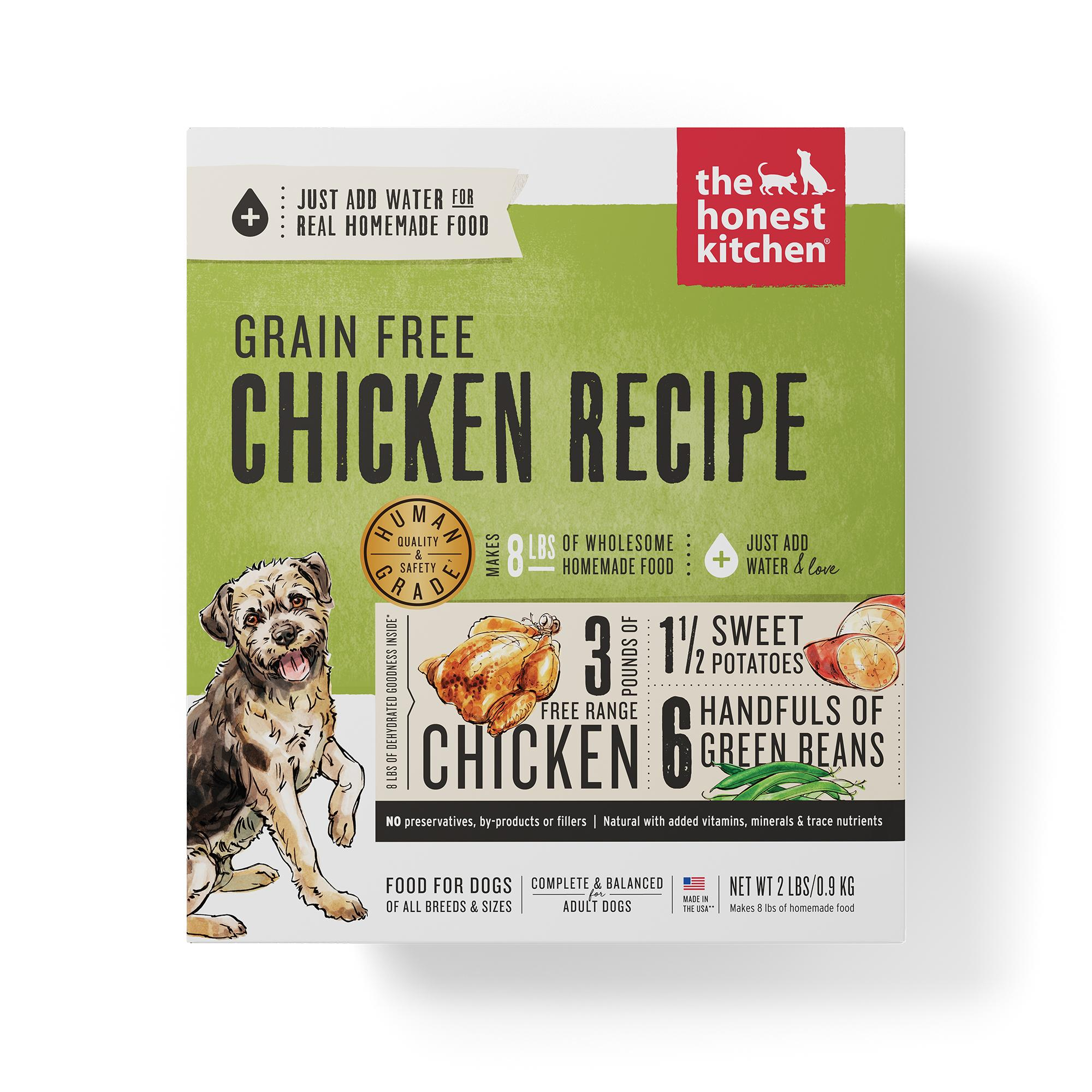 The Honest Kitchen Chicken Recipe Grain-Free Dehydrated Dog Food, 2-lb box