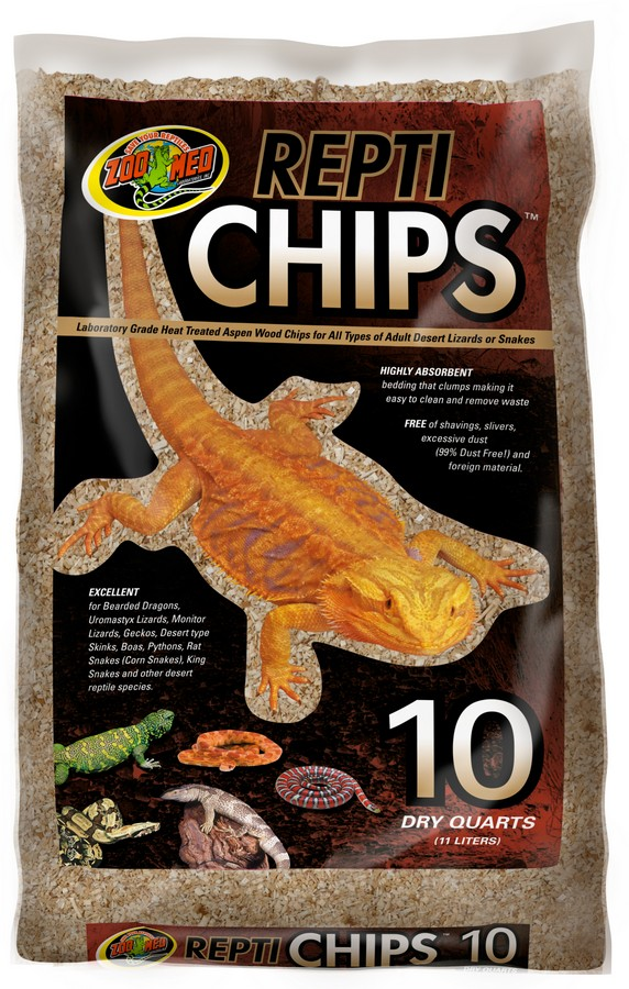 Zoo Med ReptiChips Wood Reptile Bedding, 10-qt bag