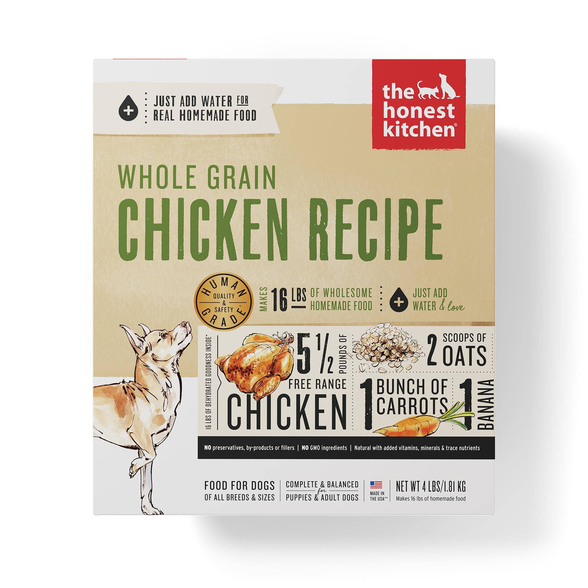 The Honest Kitchen Whole Grain Chicken Recipe Dehydrated Dog Food, 4-lb box