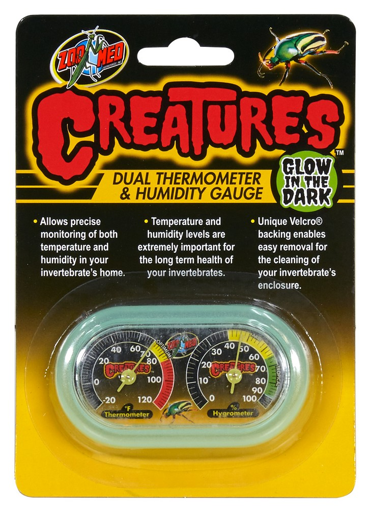 Zoo Med Creatures Dual Thermometer and Humidity Guage