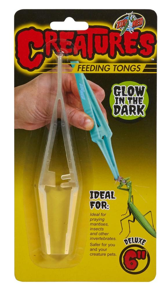 Zoo Med Creatures Glow in the Dark Feeding Tongs, 6-in