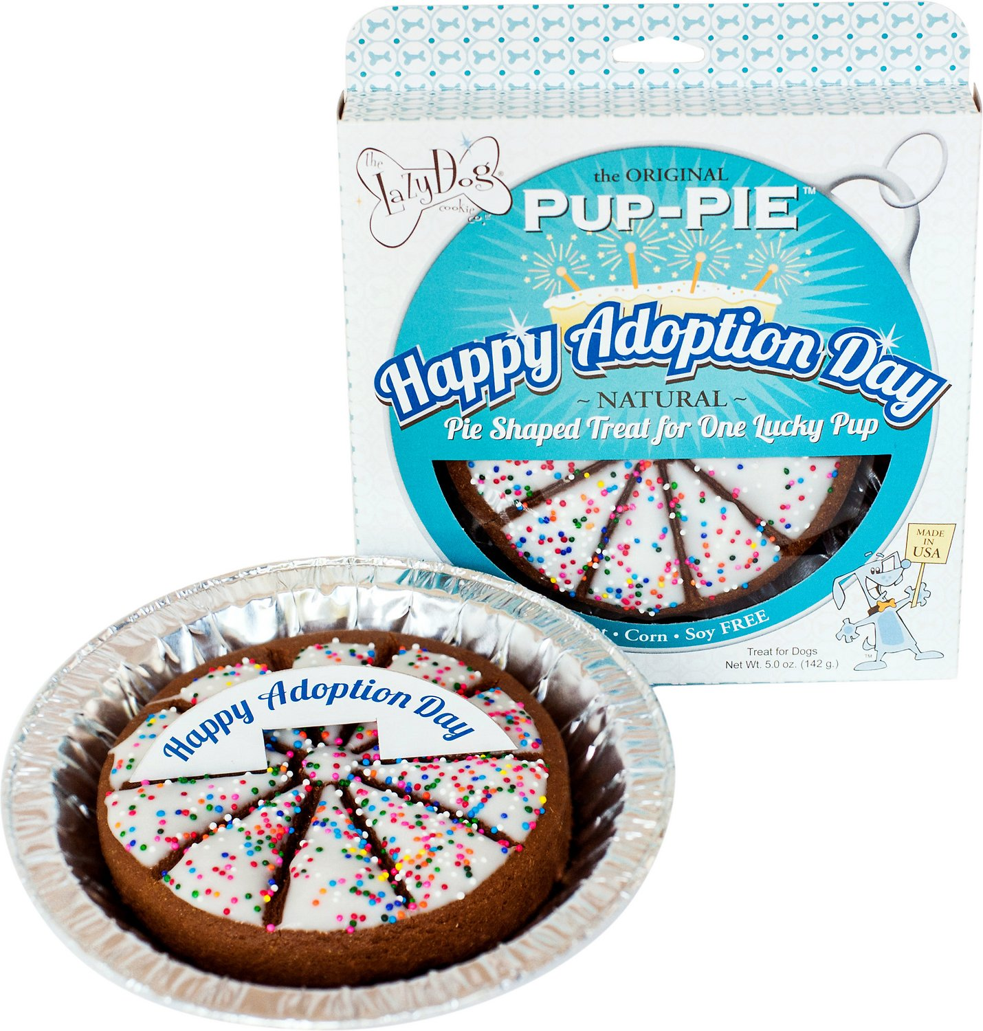The Lazy Dog Cookie Co. Happy Adoption Day Pup-PIE Dog Treat (Weights: 5ounces) Image