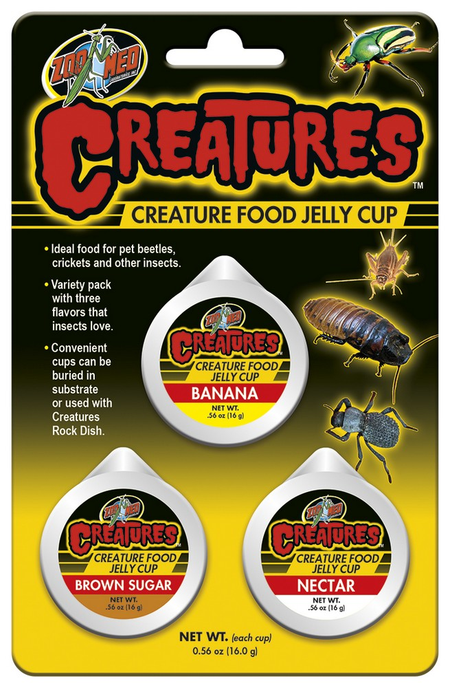 Zoo Med Creatures Food Jelly Cup Variety Pack, 1.68-oz