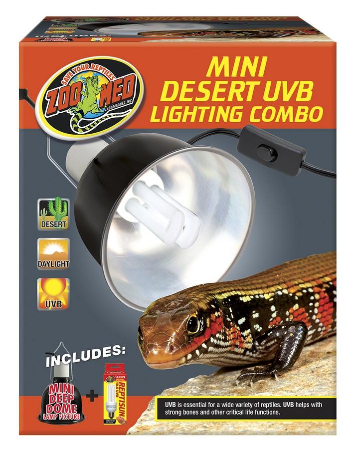 Zoo Med Mini UVB Reptile Lighting Combo, Desert, Mini