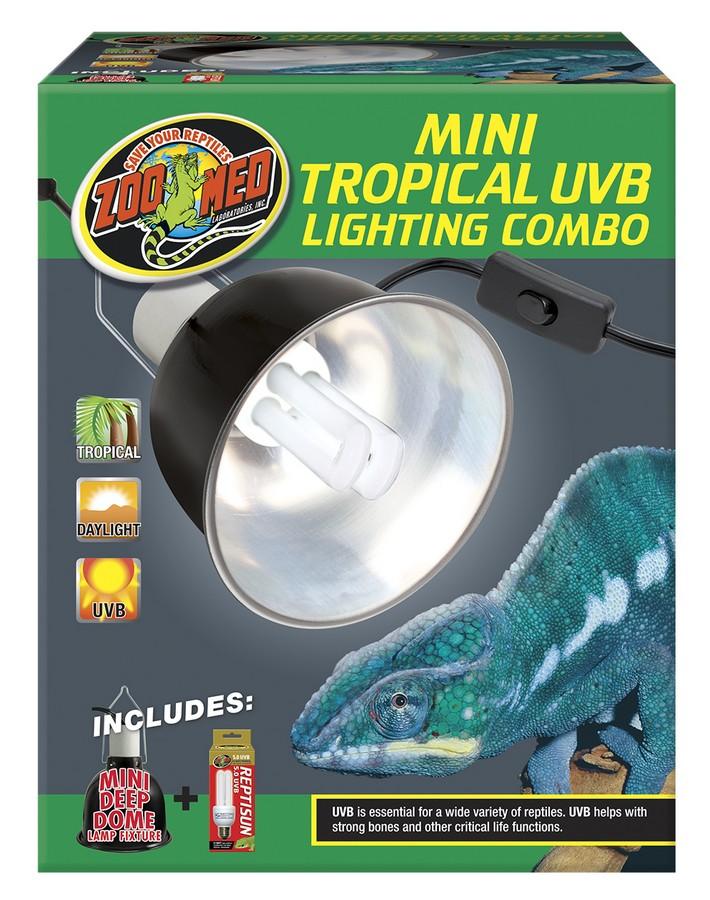 Zoo Med Mini UVB Reptile Lighting Combo, Tropical, Mini