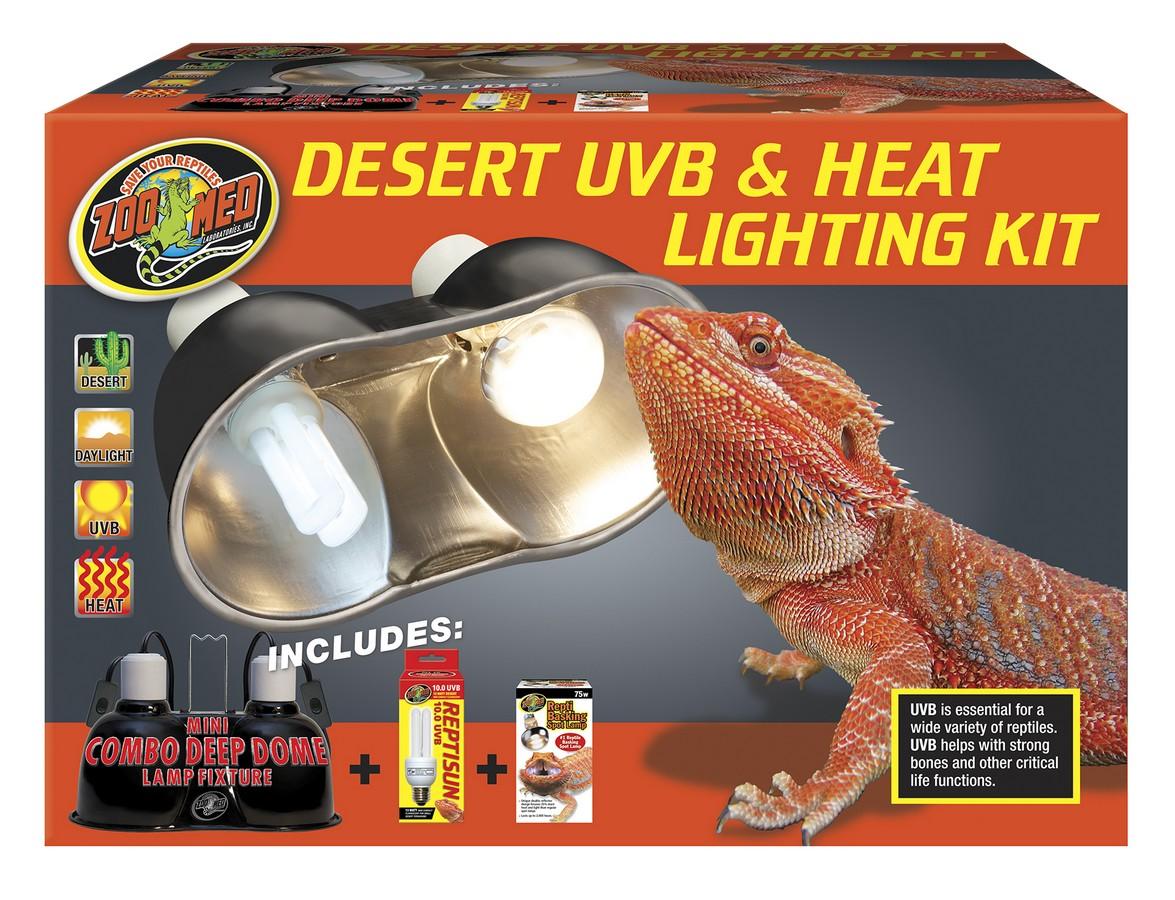 Zoo Med UVB & Heat Reptile Lighting Kit, Desert