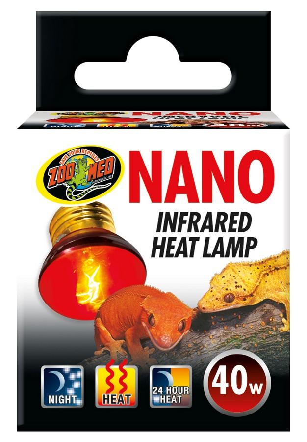 Zoo Med Nano Infrared Reptile Heat Lamp, 40-watt