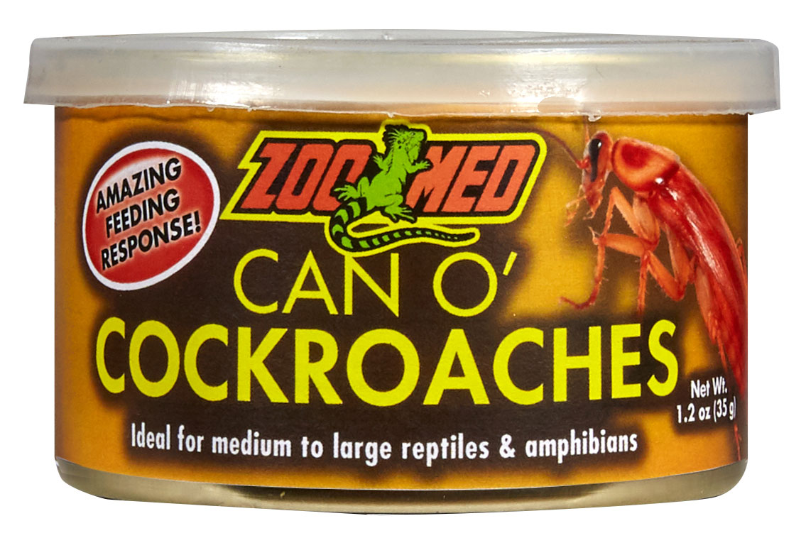 Zoo Med Can O' Cockroaches Reptile & Amphibian Food, 1.2-oz