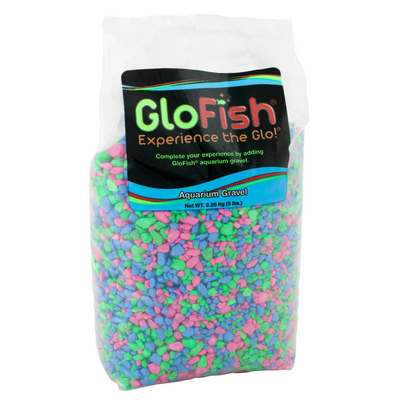 GloFish Aquarium Gravel, Pink/Green/Blue, 5-lb bag