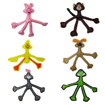 Multipet Skele-Ropes Assorted Animals Rope Dog Toy, Character Varies