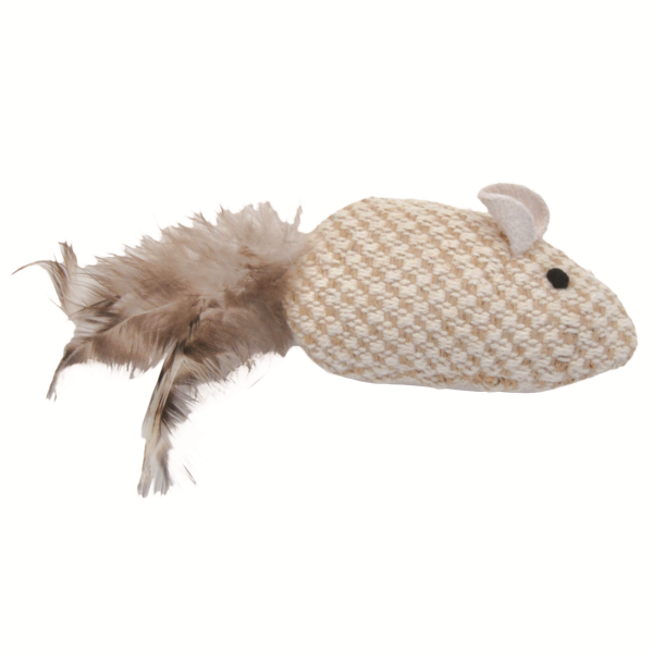 Turbo Natural Mouse Plush, Catnip Toy, 3.75-in