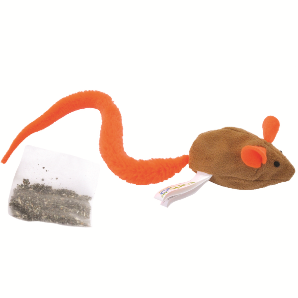 Turbo Tail Belly Crinkle Mouse, Catnip Toy