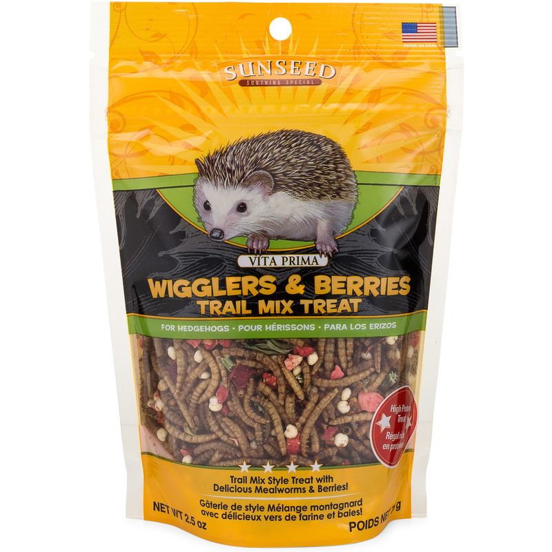 Sunseed Vita Prima Wigglers & Berries Trail Mix Treat for Hedgehogs Image