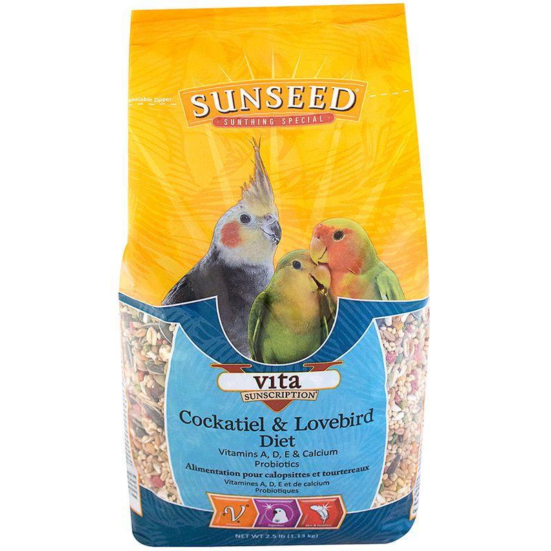 Sunseed Vita Cockatiel & Lovebird Diet, 5-lb bag