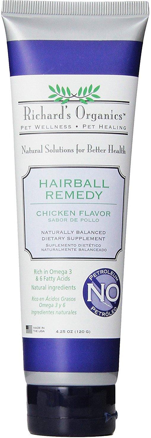Richard's Organics Chicken Flavor Hairball Remedy, 4.25-oz tube