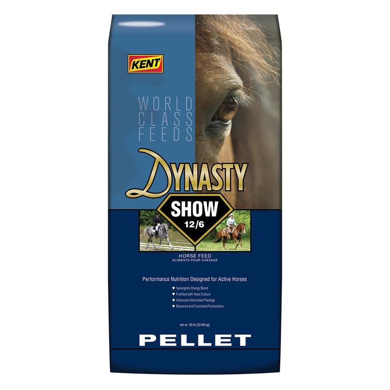 Kent Dynasty Show 12/6 Pellet Horse Feed, 50-lb