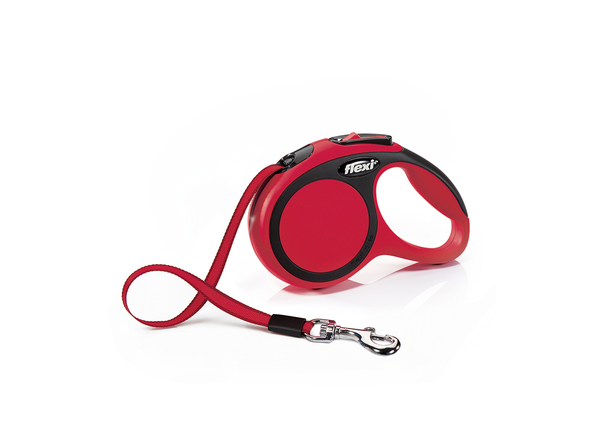 Flexi New Comfort Retractable Tape Dog Leash, Red, Red, X-Small, 10-ft