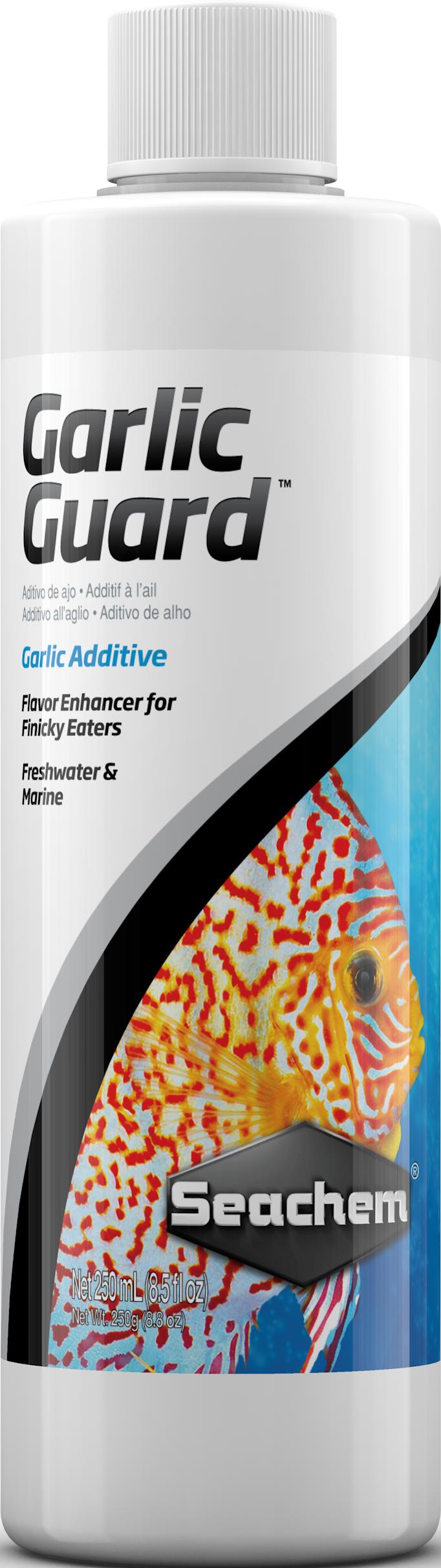 Seachem GarlicGuard Flavor Enhancer for Marine & Freshwater Aquariums, 8.5-oz Bottle