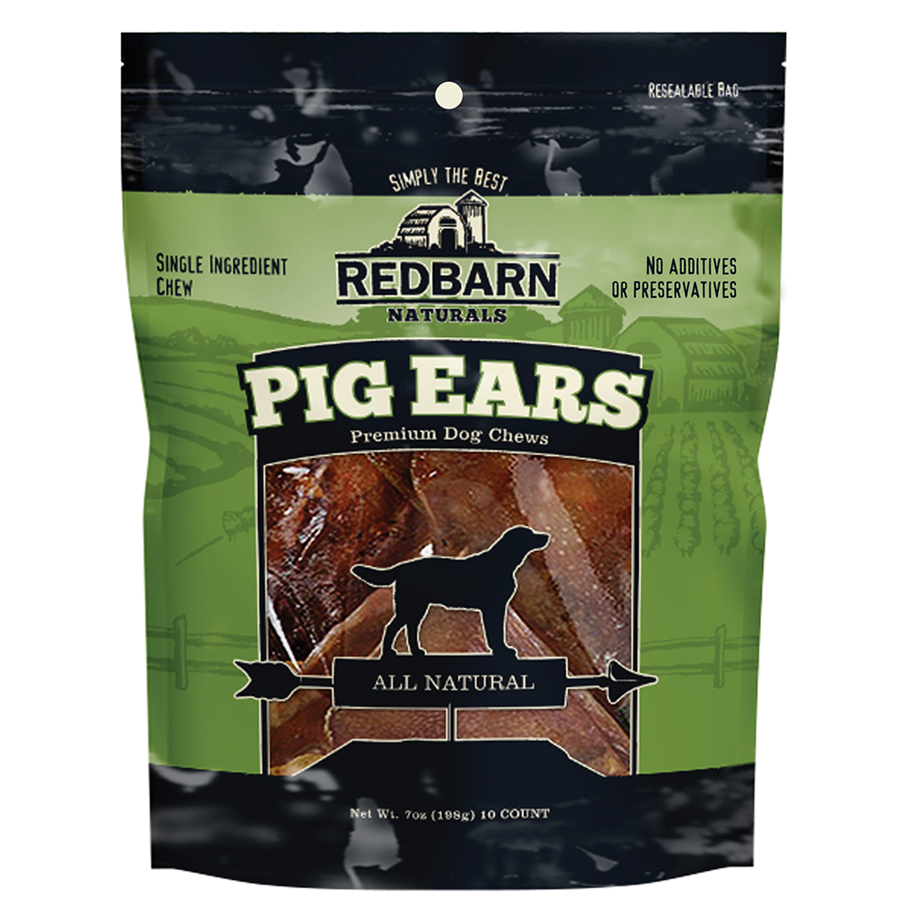 Red Barn Pig Ears Natural Dog Treats, 10 Count