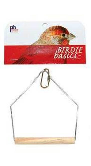 Prevue Pet Products Birdie Basics Hanging Wood Bird Swing, 4 x 5 in