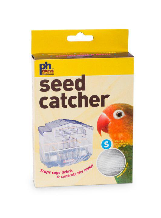 Prevue Pet Products Nylon Mesh Bird Seed Catcher with Elastic Band, Large