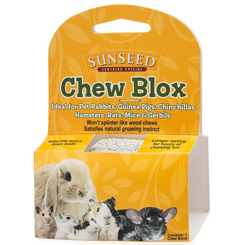 Sunseed Chew Blox for Small Pets, 1.25-oz