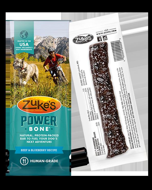 Merrick Power Bones, Beef & Blueberry Recipe, Dog Treat Image
