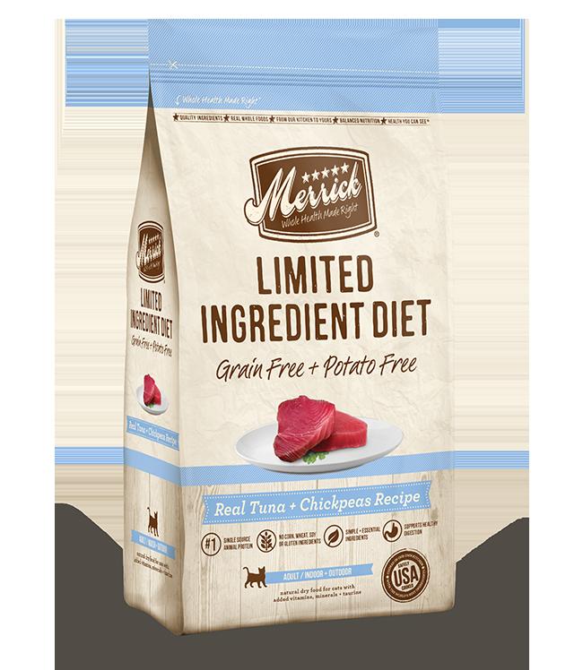Merrick Limited Ingredient Diet, Real Tuna + Chickpeas Recipe, Dry Cat Food, 4-lb bag