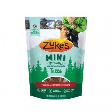 Zukes Mini Naturals Trees Turkey Cranberry Dog Treats Image