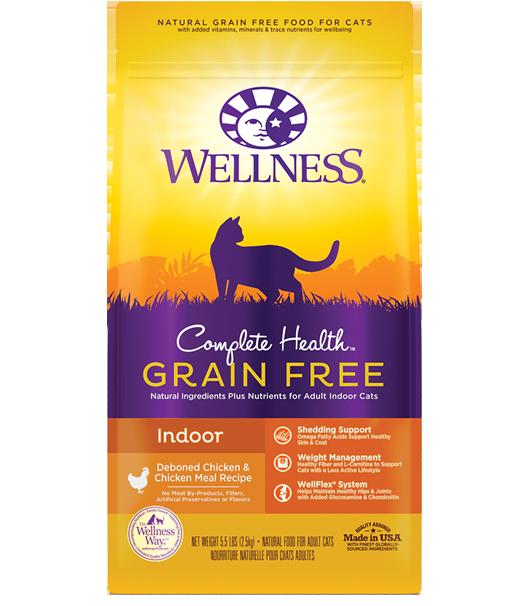 Wellness Complete Health Grain-Free Indoor Deboned Chicken Recipe Dry Cat Food, 5.5-lb bag