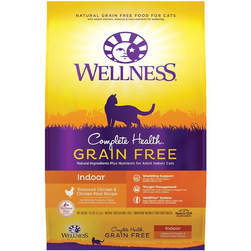 Wellness Complete Health Grain-Free Indoor Deboned Chicken Recipe Dry Cat Food, 11.5-lb bag
