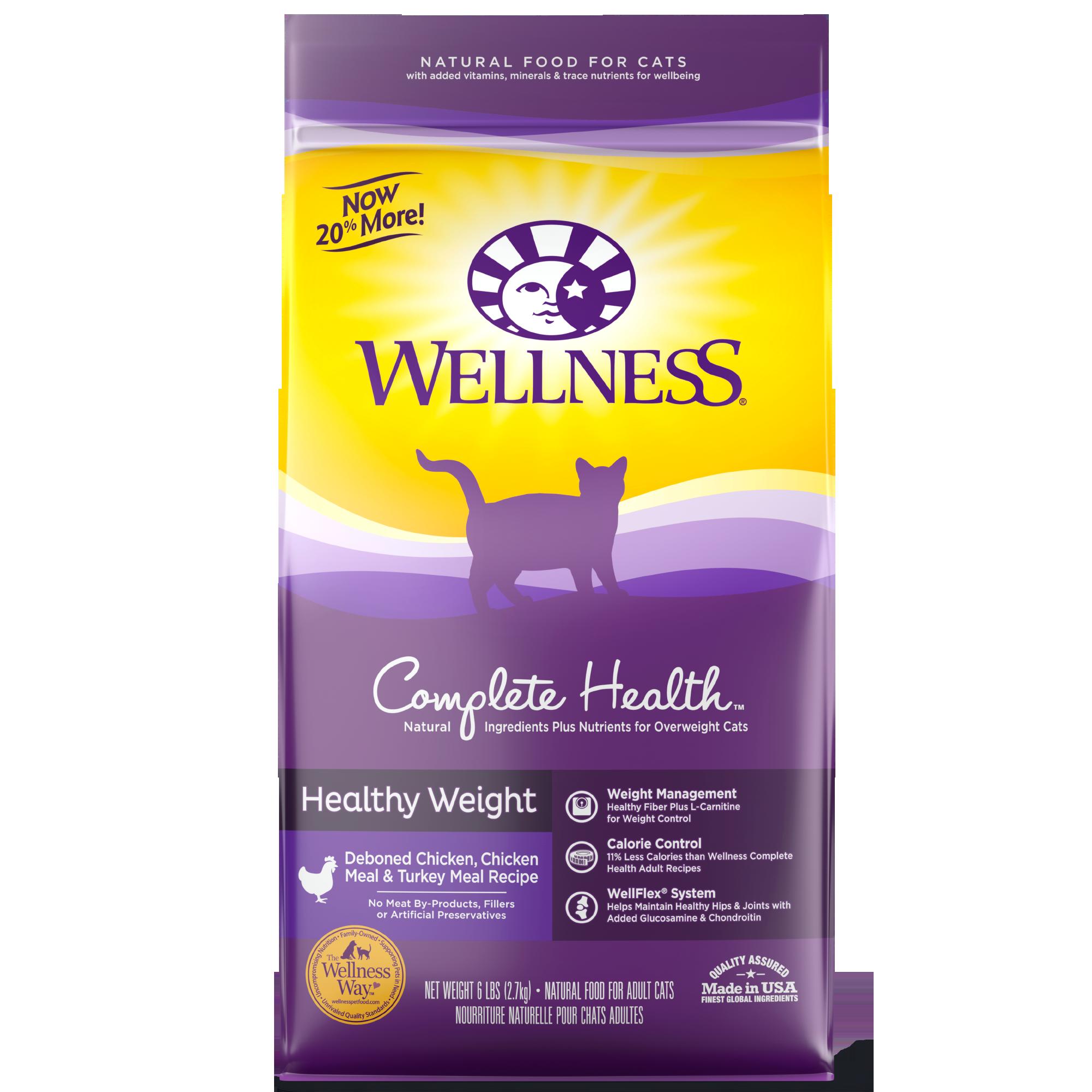 Wellness Complete Health Healthy Weight, Deboned Chicken & Turkey Meal Recipe Dry Cat Food, 12-lb bag