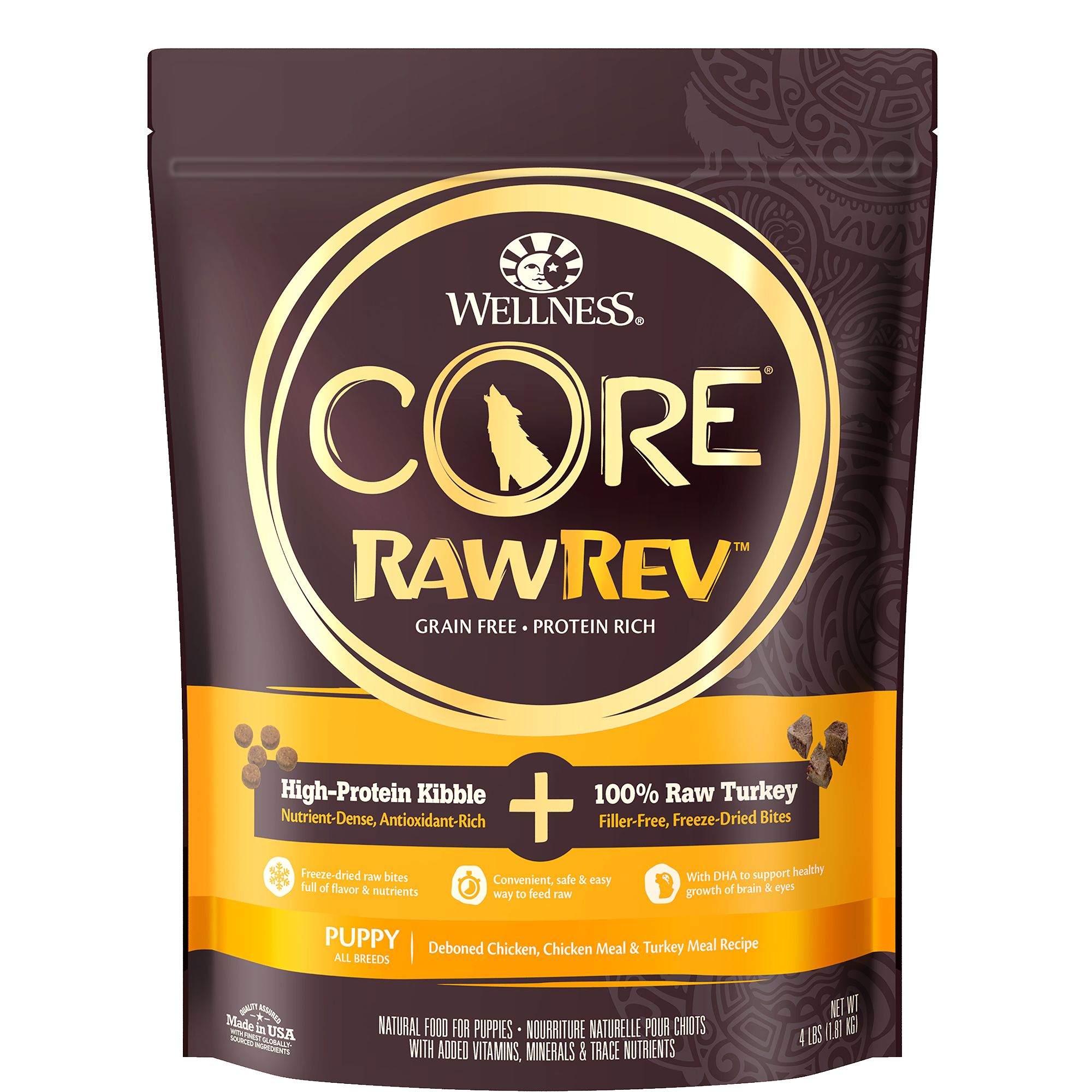 Wellness CORE RawRev Puppy with Freeze Dried Turkey Dry Dog Food, 10-lb