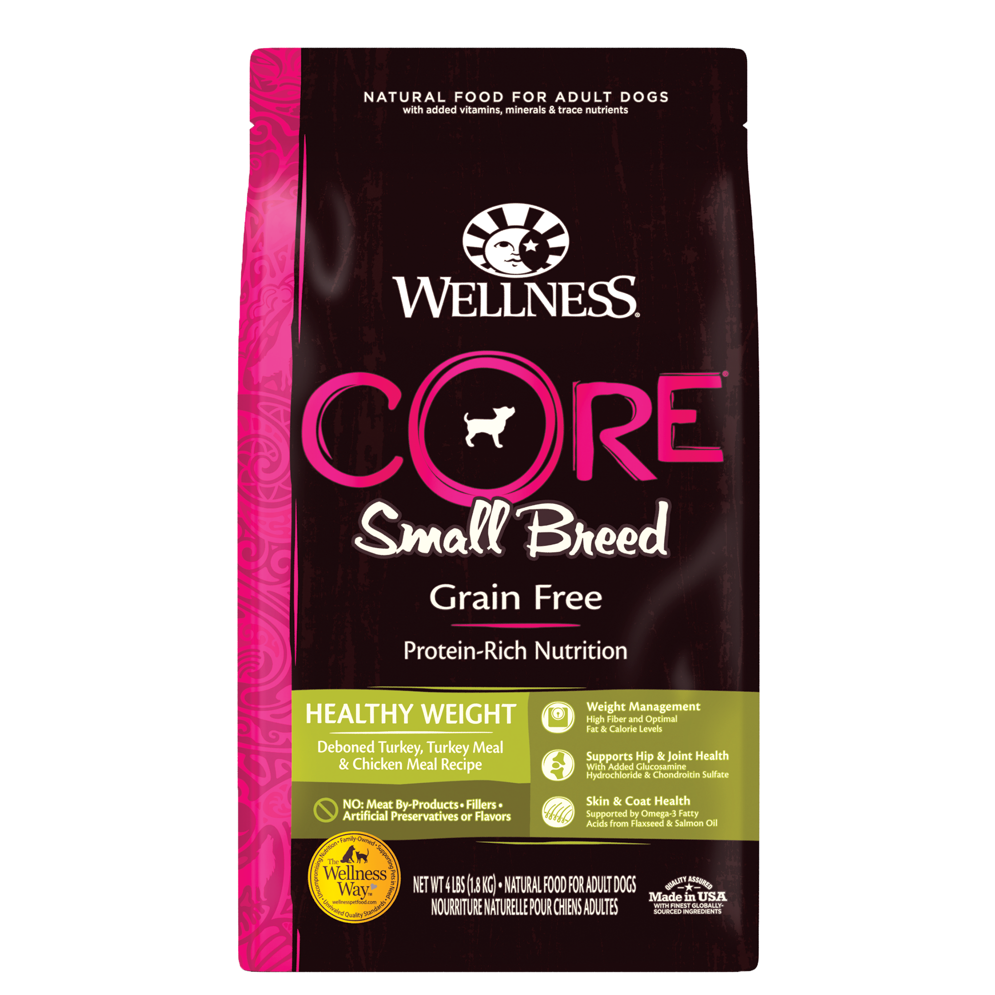 Wellness CORE Small Breed, Grain-Free Healthy Weight, 4-lb