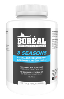 Boreal Nutraceuticals 3 Seasons, Natural Anti-Flea & Tick Supplement for Dogs, 120 count