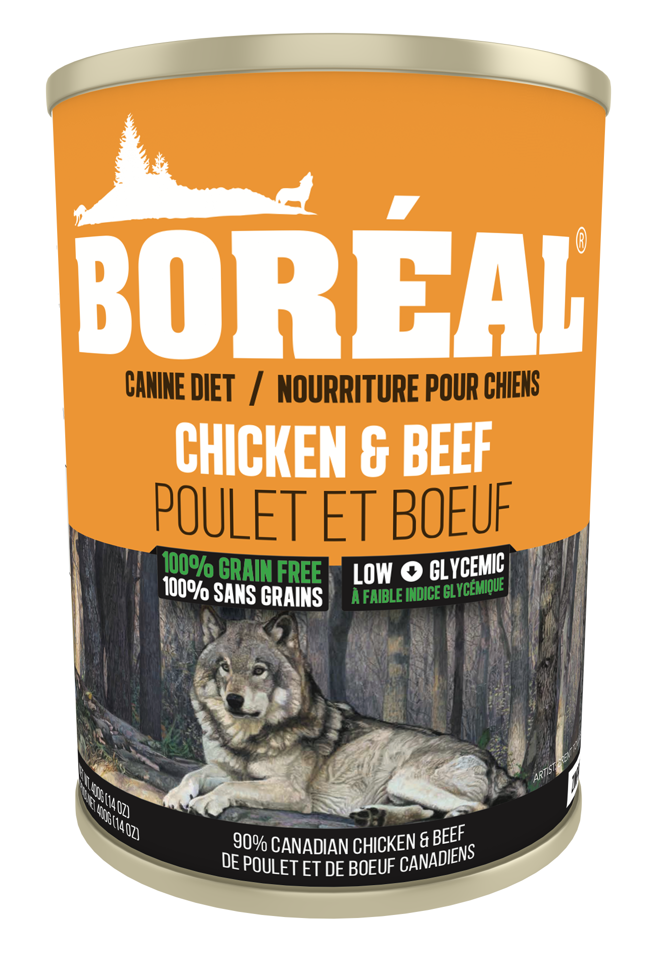 Boreal Grain-Free Big Bear Chicken & Beef Canned Dog Food, 690-gram
