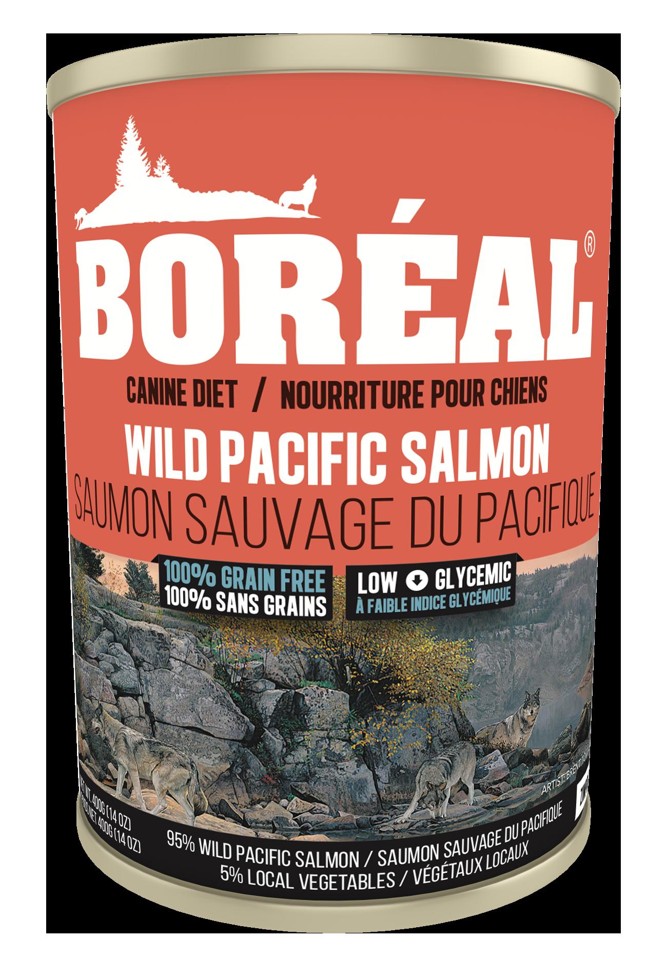 Boreal Grain-Free Big Bear Wild Pacific Salmon Canned Dog Food, 690-gram