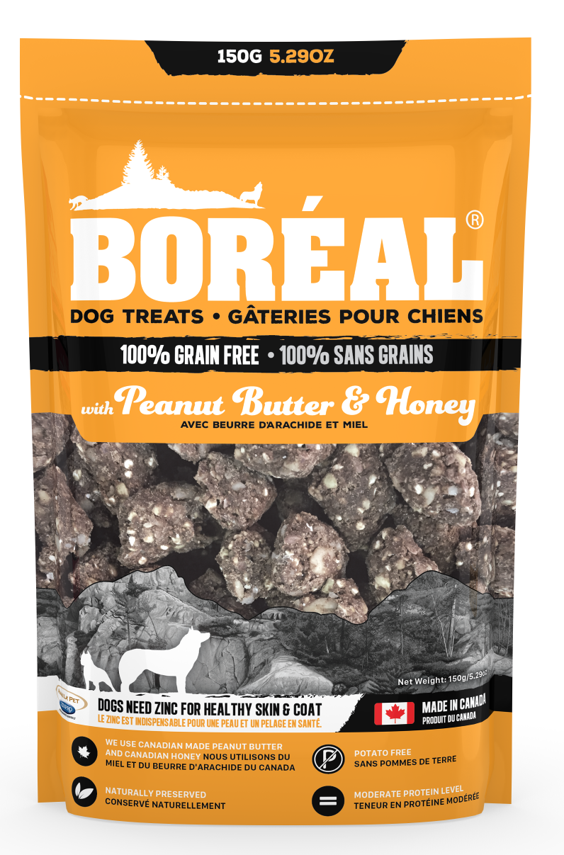 Boreal Grain-Free Peanut Butter And Honey Dog Treats, 150-gram