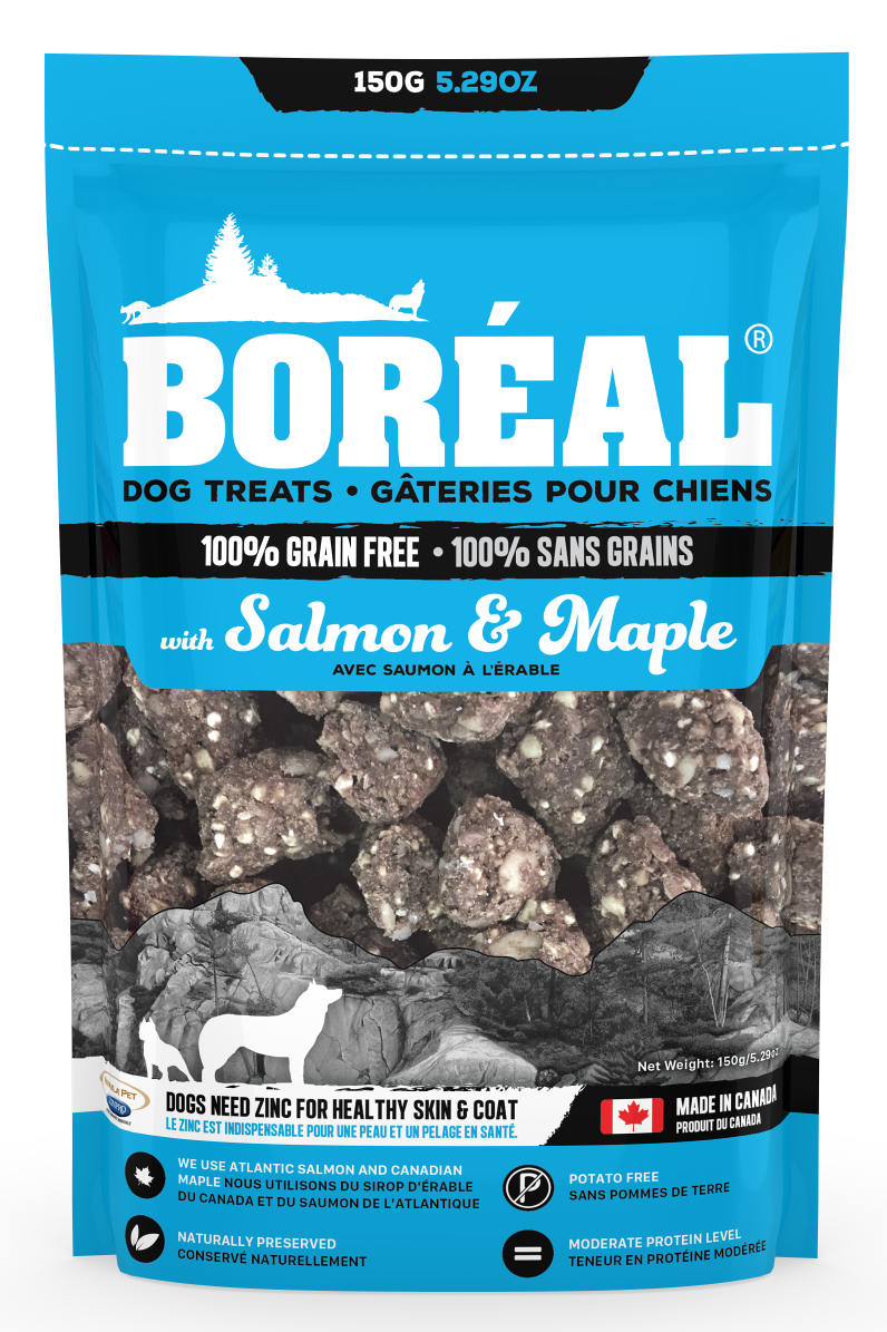 Boreal Grain-Free Salmon And Maple Dog Treats, 150-gram