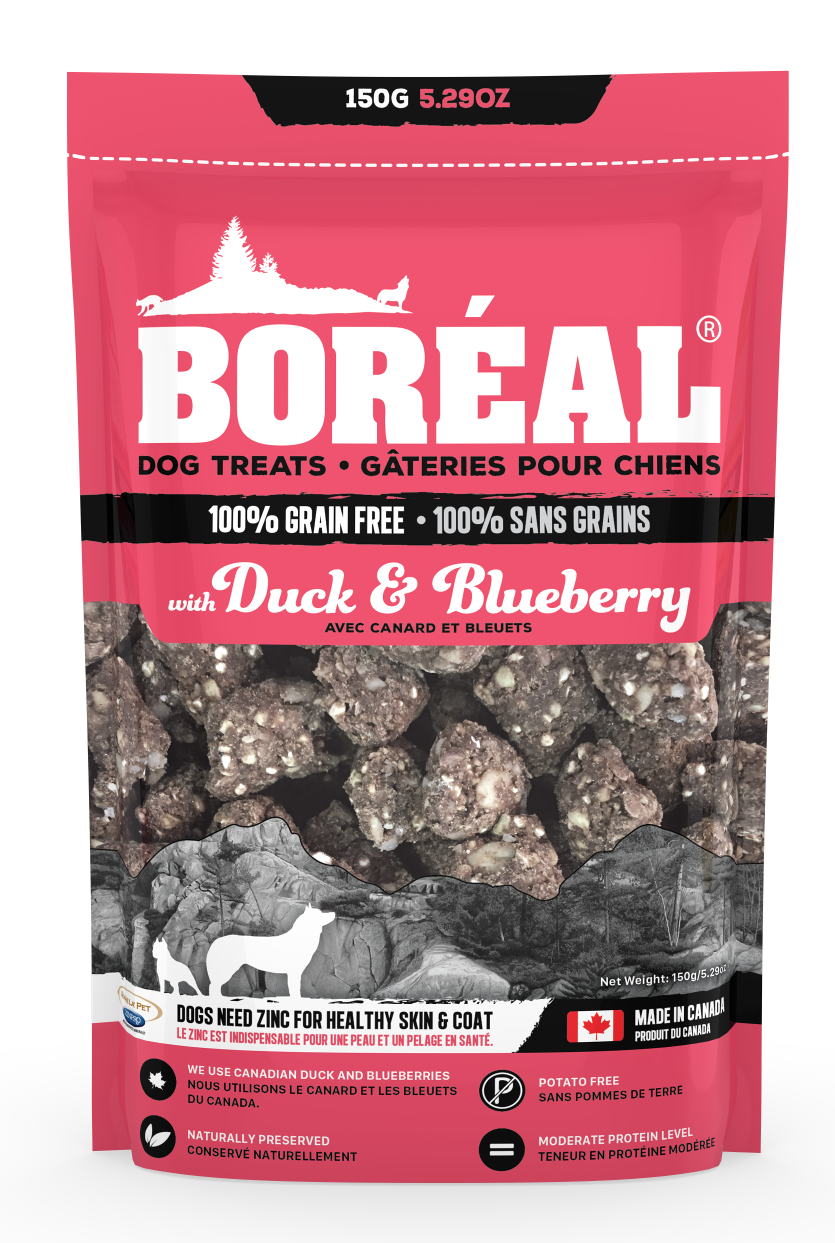 Boreal Grain-Free, Duck & Blueberry Dog Treats, 150-gram